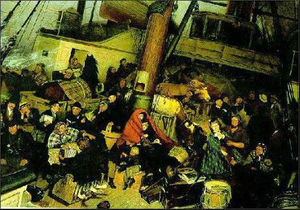 Ekwall's The Emigrants (date unknown), the art...