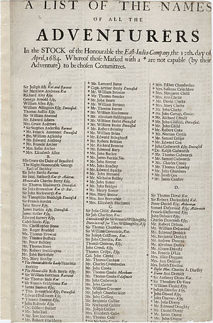 "English: ""A list of the names of all the ..."